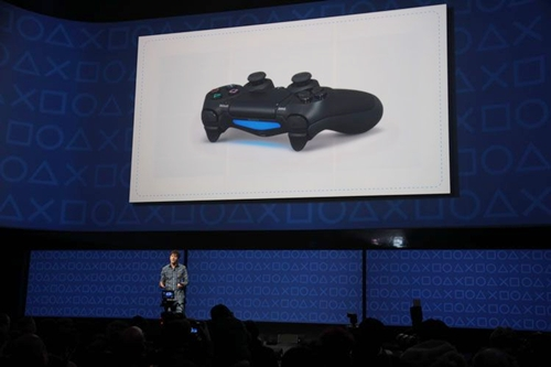 O visual invocado do controle do PS4.